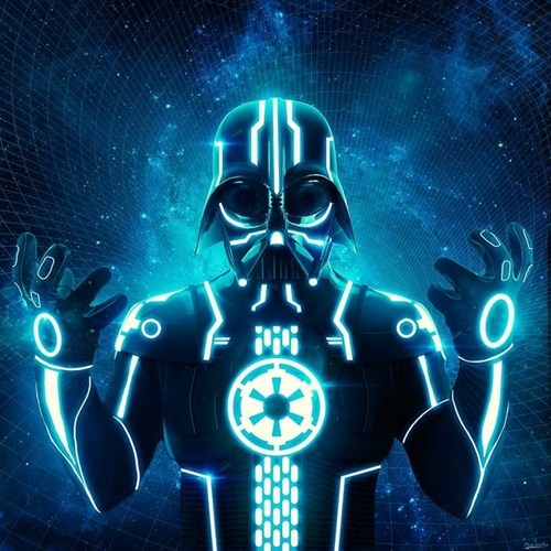 mashup star wars Fan Art darth vader tron - 6815393280