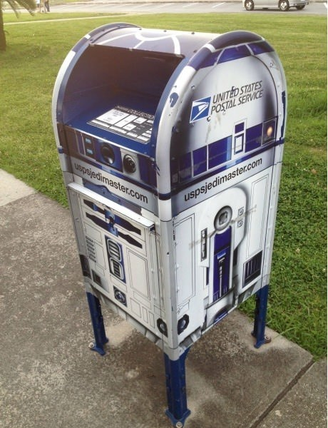 r2-ds,star wars,mailbox,usps