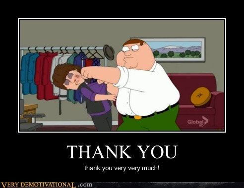 thank you Peter Griffin justin bieber - 6815643136