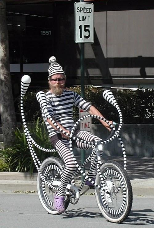 bicycle,wtf,dr seuss,crocs,poorly dressed,g rated