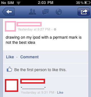ipod,sharpie,permanent marker,iphone