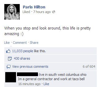 paris hilton,life is pretty amazing,lazy bimbo