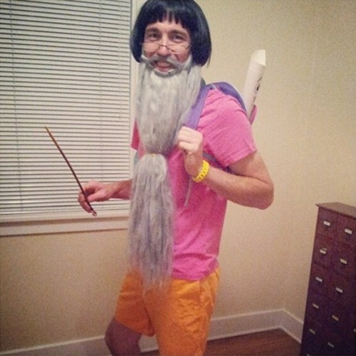 costume,beard,dumbledore,dora the explorer