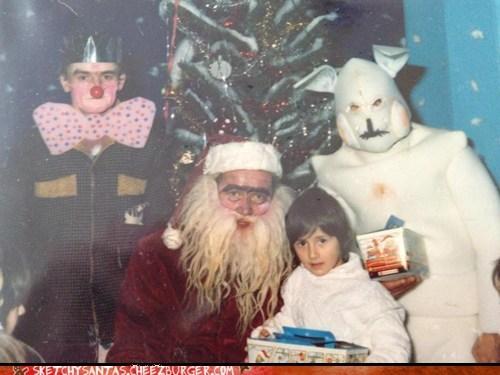sketchy christmas creepy santa funny holidays g rated sketchy santas - 6815863040