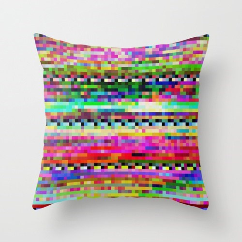 Pillow glitch pattern decor home throw