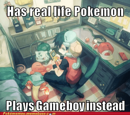 we'd all do it starters real life pokemon gameboy - 6815881728