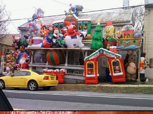 trashy christmas decorations funny holidays - 6815901952