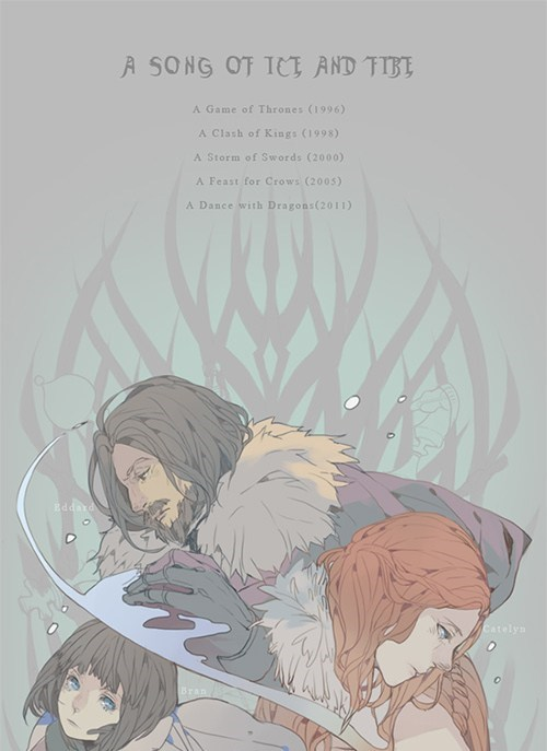 Game of Thrones ned stark a song of ice and fire anime wall scroll books characters manga - 6815910656