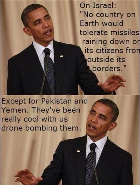 bombing barack obama Israel drones Hypocrisy - 6815941120