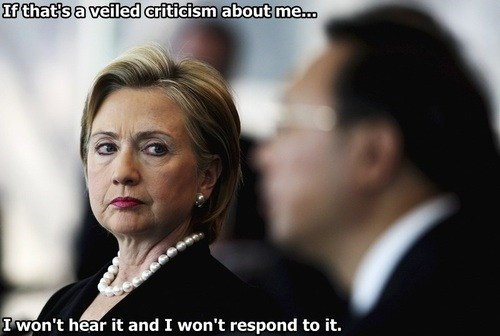 veiled criticism Hillary Clinton arrested development quote