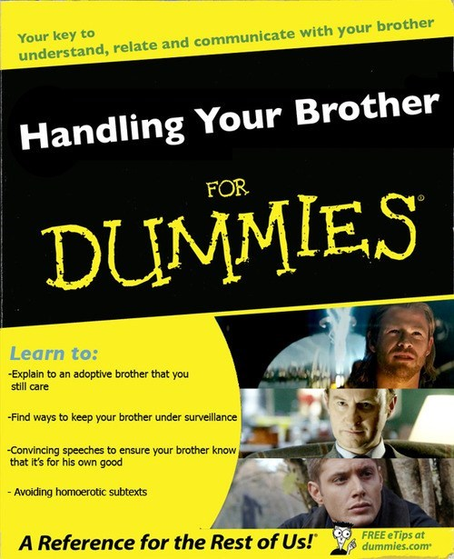 Thor,Supernatural,Sherlock,for dummies,brothers