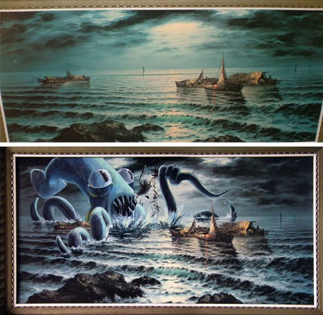 kraken thrift store hacked painting - 6816049664