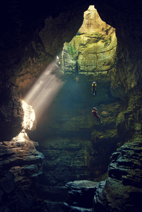 rock climbing,spelunking,cave