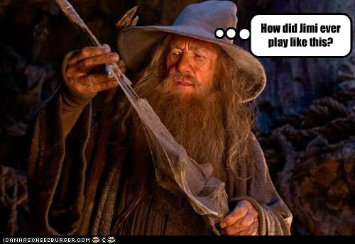 ian mckellen gandalf The Hobbit jimi hendrix