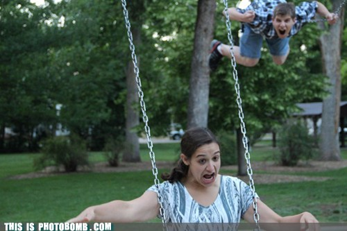 swingset,scary,having fun