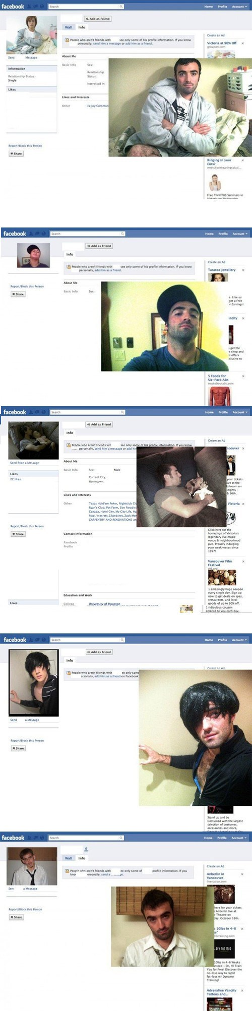 Guy Reproduces People's Profile Pictures Before Friending Them on Facebook