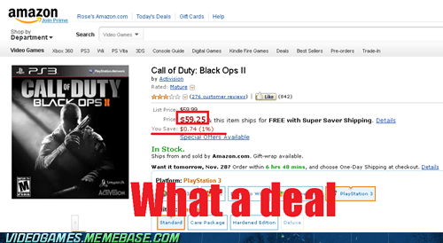 call of duty amazon pricing black ops II - 6816185344
