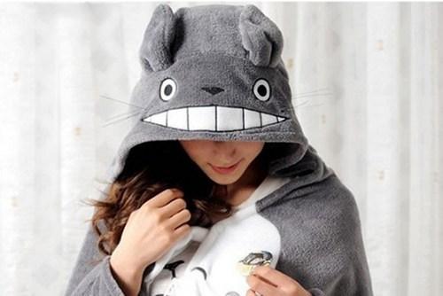 totoro cloak cute nerdgasm - 6816386560