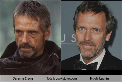 Jeremy Irons Totally Looks Like Hugh Laurie