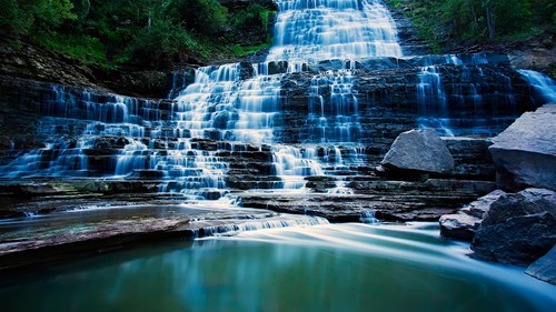 Canada,landscape,waterfall,pretty colors