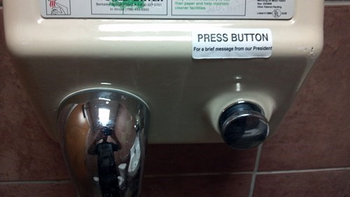 rim shot hand drying politics
