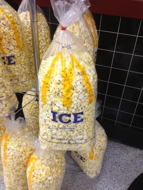 bag label Popcorn ice - 6816593920