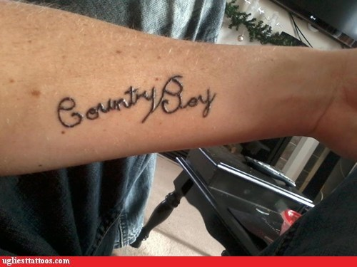 arm tattoos,country boy