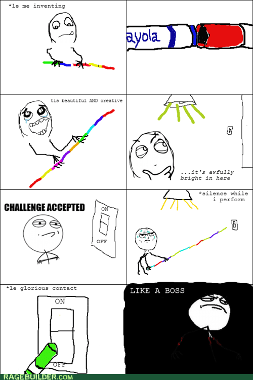 Like a Boss light switch f yeah Challenge Accepted markers invention - 6817059072