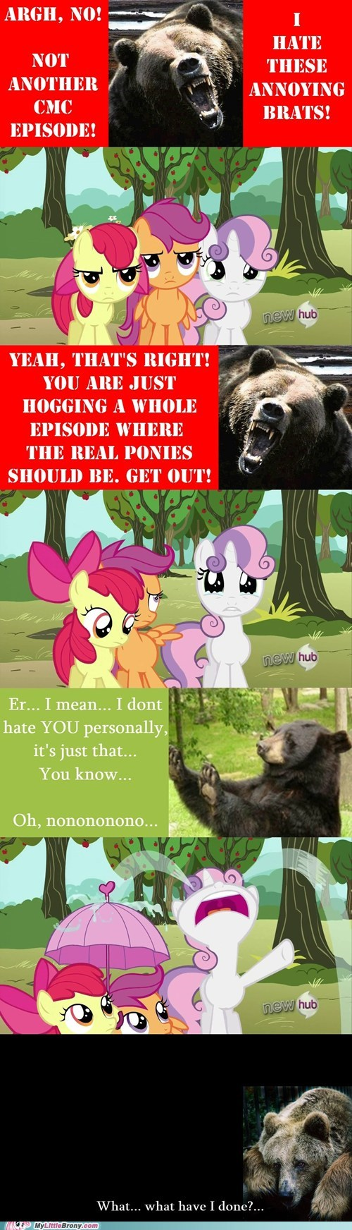 bear,cutie mark crusaders,get over it