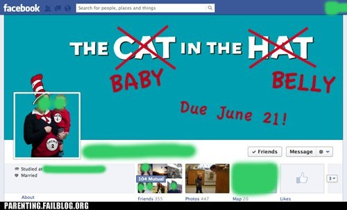 baby announcement the cat in the hat pregnancy facebook - 6817079296