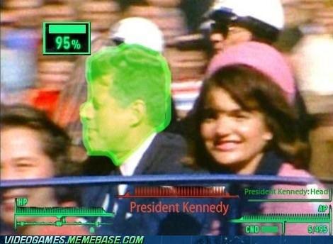 headshot,fallout,president,john kennedy,VATS
