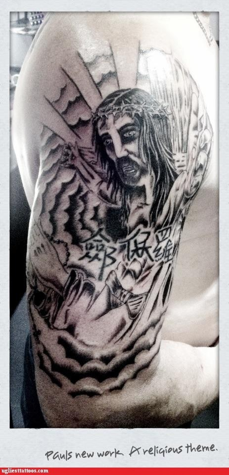 jesus arm tattoos - 6817782528
