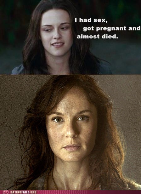 bella,lori,twilight,pregnant,The Walking Dead