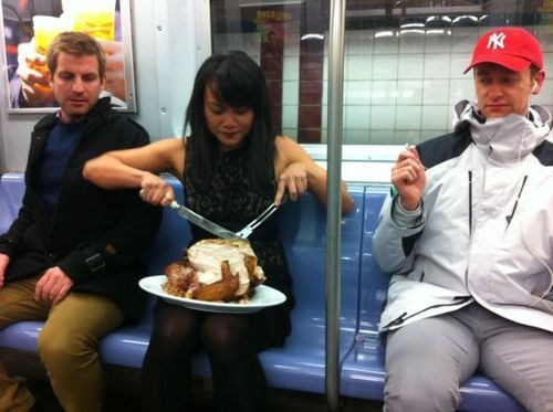 chicken,Turkey,Subway,eating on the subway