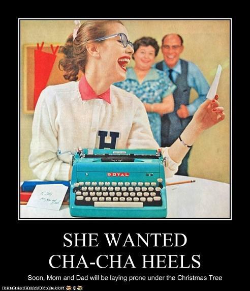 murder gift Divine cha cha heels typewriter - 6818297856