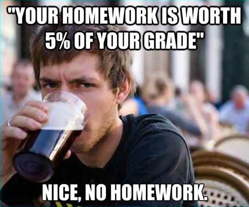 no homework homework slacker student - 6818364928