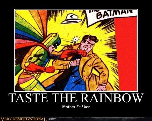 costume taste the rainbow batman