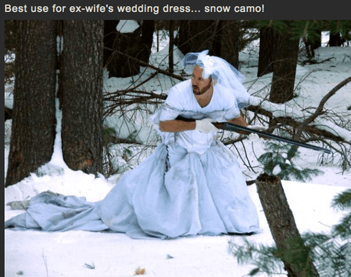ex wife,wedding dress,hunting,warm