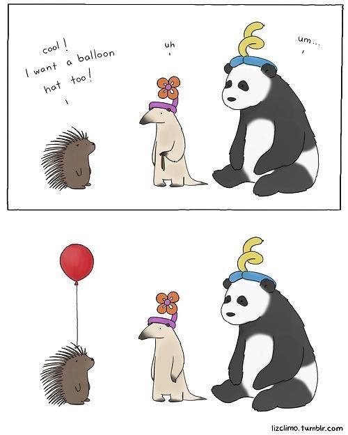 porcupine,Balloons,comic