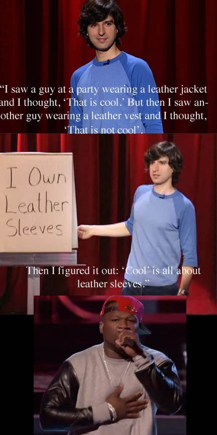 leather sleeves,50 cent