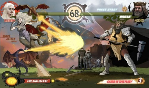 Game of Thrones,Fan Art,video games,fighting game,Robert Baratheon,Daenerys Targaryen