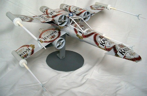 star wars x wing attack position beer cans - 6818923264