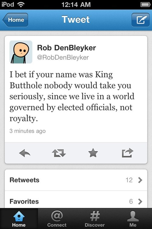 twitter cyanide and happiness rob denbleyker king butthole tweet - 6818946560