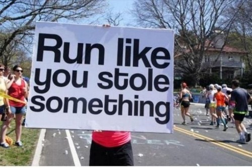 motivation sign running thief