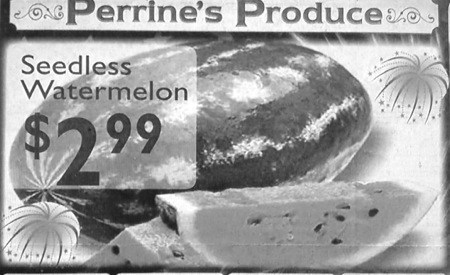 advertisement seedless watermelon - 6818970624