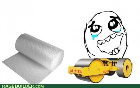 best idea,bubble wrap,evar,steam roller