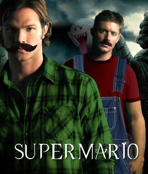 crossover Supernatural dean winchester sam winchester Super Mario bros - 6819028224