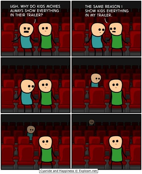 movie theater,cyanide & happiness,kid napper