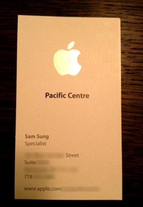 business card sam sung Samsung apple - 6819101184