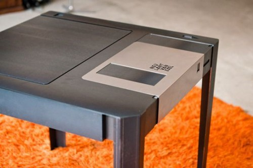 furniture,table,nostalgia,floppy disk,home